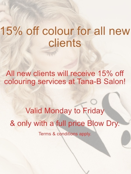 TANA -B Hair Colouring Discount