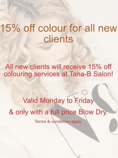TANA -B Hair Colouring Discount